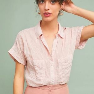 Cloth and Stone Short Sleeve Button up Shirt